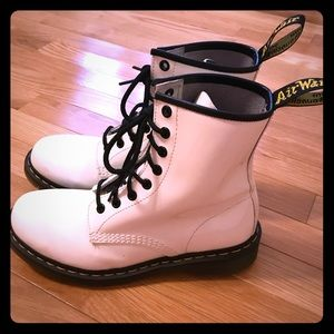 Dr. Martens 1460 White Patent Leather